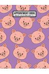 Pig Appointment Book: Undated Hourly Appointment Book - Weekly 7AM - 10PM with 15 Minute Intervals - Large 8.5 x 11