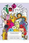 Composition Notebook: Colorful Funny Monsters Composition Book for School, Wide Ruled: 110 Pages,8.5x11 Lined Writing Paper for School Stude