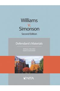 Williams V. Simonson: Defendant's Materials
