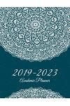 2019-2023 Academic Planner: Blue Beauty Mandala, 8.5