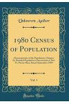1980 Census of Population, Vol. 1: Characteristics of the Population; Chapter D, Detailed Population Characteristics; Part 53, Puerto Rico; Issued Sep