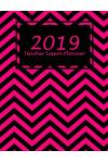 2019 Teacher Lesson Planner: Black Pink Color, 2019 Weekly Monthly Teacher Planner and Record Book 8.5