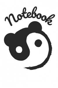 Notebook: Panda Homework Book Composition and Practice Tracker