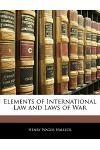Elements of International Law and Laws of War