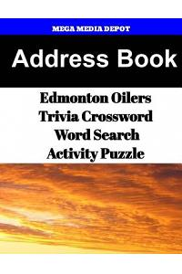 Address Book Edmonton Oilers Trivia Crossword & Wordsearch Activity Puzzle