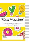 Blank Music Sheets: Yellow Fresh with Cactus - 12 Staves, 100 Pages, Full Paper Size (8.5*11)