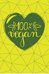 100% Vegan: Healthy Journal 120-Page College-Ruled Vegan Notebook 6 X 9 Perfect Bound Softcover