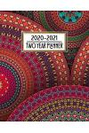 2020 - 2021 Two Year Planner: Pretty Colorful Mandala Daily Weekly Monthly 2020 - 2021 Planner Organizer. Bold Two Year Motivational Agenda Schedule