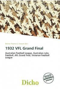 1932 Vfl Grand Final