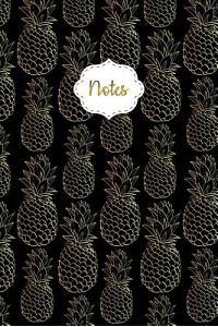 Notes: Golden Pineapples Dot Grid Journal for Taking Notes Journaling School or Work