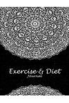 Exercise & Diet Journal: Beauty Black Art, 2019 Weekly Meal and Workout Planner and Grocery List 8.5