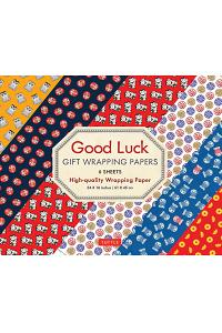Good Luck Gift Wrapping Papers 6 Sheets: High-Quality 24 X 18 Inch (61 X 45 CM) Wrapping Paper