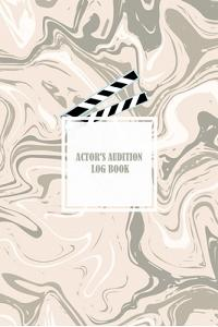 Actor's Audition Log Book: Martin J. Anderson