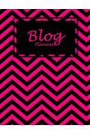 Blog Planner: Pink Black Book, Daily Blogger Posts, Calendar Social Media Marketing, Large Size 8.5