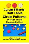 Carom Billiards: Half Table Circle Patterns: 3-Cushion Billiards Championship Shots