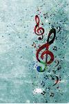A Splash of Music Sheet Music: 150 page Music Sheet Notebook Journal