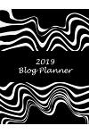 2019 Blog Planner: Artist Black Color, 2019 Weekly Monthly Planner, Daily Blogger Posts for 12 Months, Calendar Social Media Marketing, L