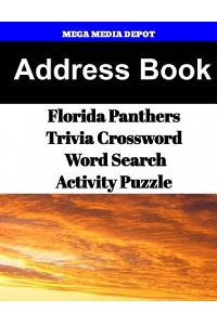 Address Book Florida Panthers Trivia Crossword & Wordsearch Activity Puzzle
