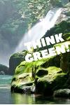 think green: lined nature Journal