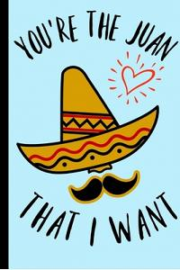 You're the Juan that I want: Funny Sombrero Mexican Spanish Valentines Engagement Book Notepad Notebook for wife girlfriend husband boyfriend