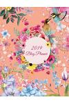 2019 Blog Planner: Colorful Floral Art Design, 2019 Weekly Monthly Planner, Daily Blogger Posts for 12 Months, Calendar Social Media Mark