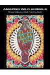 Amazing Wild Animals: Beautiful Wildlife Animal Mandala Coloring Books for Adults - Stress Relieving Animal Patterns Adult Relaxation Mandal