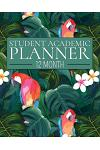 12 Month Student Academic Planner: Island Parrot 12-Month Study Calendar Helps Elementary, High School and College Students Prioritize and Manage Home