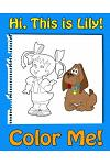 This Is Lily-Color Me! a Coloring Book for Kids Ages 4-8 with Rhymes for Kids, Activity Book for 5 Year Old Girls. Read, Color and Have Fun!: A Rhymes