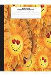 Composition Book: Sunflower Journal, Composition Book for School, Wide Ruled,100 pages, for school student/teacher