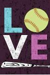 Love Softball Book: Awesome Cute Blank Lined Journal for Softball Players