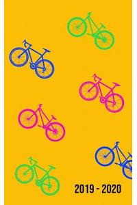2019 - 2020: 2 Years Monthly Weekly Calendar Organizer Planner for Daily Personal, Holidays and Work Event Schedules - Bicycle Ridi