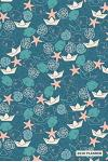 2019 Planner: Daily Weekly & Monthly Organizer Angel Fish Starfish Blue Sea Pattern Cover