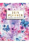 2019 Planner Weekly and Monthly: Butterfly Floral Watercolor Cover, 12 Month and Weekly Daily Agenda Calendar Journal Notebook, 52 Week Monday to Sund