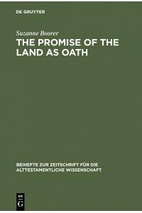 The Promise of the Land as Oath