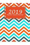 2019 Teacher Lesson Planner: Summer Colorful Book, 2019 Weekly Monthly Teacher Planner and Record Book 8.5 X 11 Weekly Spreads Include Space to Wri