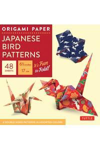 Origami Paper - Japanese Bird Patterns - 6 3/4