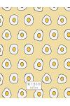 Notebook: Fried Egg on Yellow Cover and Lined Pages, Extra Large (8.5 X 11) Inches, 110 Pages, White Paper