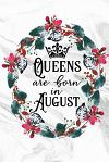 Queens Are Born in August: Marble Flower Journal for Women Lined Diary Keepsake Gift Compact 6x9 100 Pages Birthday Month Notebook