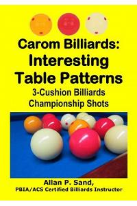 Carom Billiards: Interesting Table Patterns: 3-Cushion Billiards Championship Shots