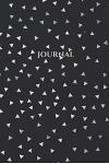 Journal: Softcover Lined Journal Silver Triangles on Black
