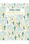 2018-2019 Monthly Planner Green Cactus Design: Calendar Schedule Organizer Monthly Planner July 2018 Through End of Year 2019