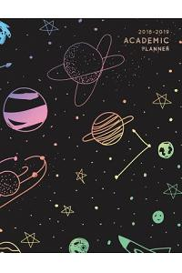 2018-2019 Academic Planner: Rainbow Constellation Stars - Aug 2018 - July 2019 Weekly View -To Do Lists, Goal-Setting, Class Schedules + More - Ga