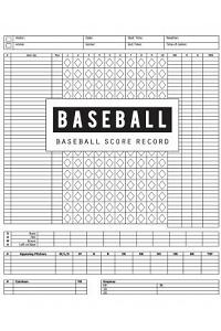 Baseball Score Record: Baseball Game Record Keeper Book, Baseball Score, Baseball score card has many spaces on which to record, Size 8.5 x 1
