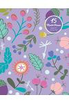 15 Months Planner October 2017 - December 2018, Monthly Calendar with Daily Planners, Passion/Goal Setting Organizer, 8x10, Purple Doodles Flower Bloo