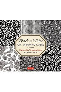 Black & White Gift Wrapping Papers: 6 Sheets of High-Quality 24 X 18 Inch Wrapping Paper