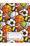 Composition Notebook: Sport Ball Boys School Composition Notebook - Wide Ruled, 110 pages,8.5x11