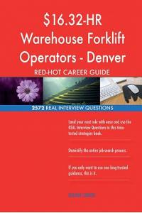 $16.32-HR Warehouse Forklift Operators - Denver Red-Hot Career; 2572 Real Interv