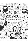 2019-2023 Five Year Planner: Cute Animal Cats Cover Monthly Schedule Organizer Calendar Agenda Diary for the Next Five Years January 2019 to Decemb
