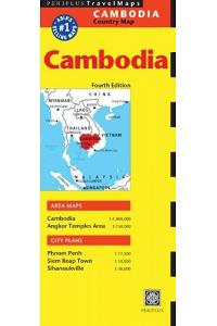 Cambodia Travel Map Fourth Edition (Periplus Travel Maps)