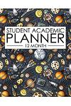12 Month Student Academic Planner: Engineering and Space Stem Themed 12-Month Study Calendar Helps Elementary, High School and College Students Priori